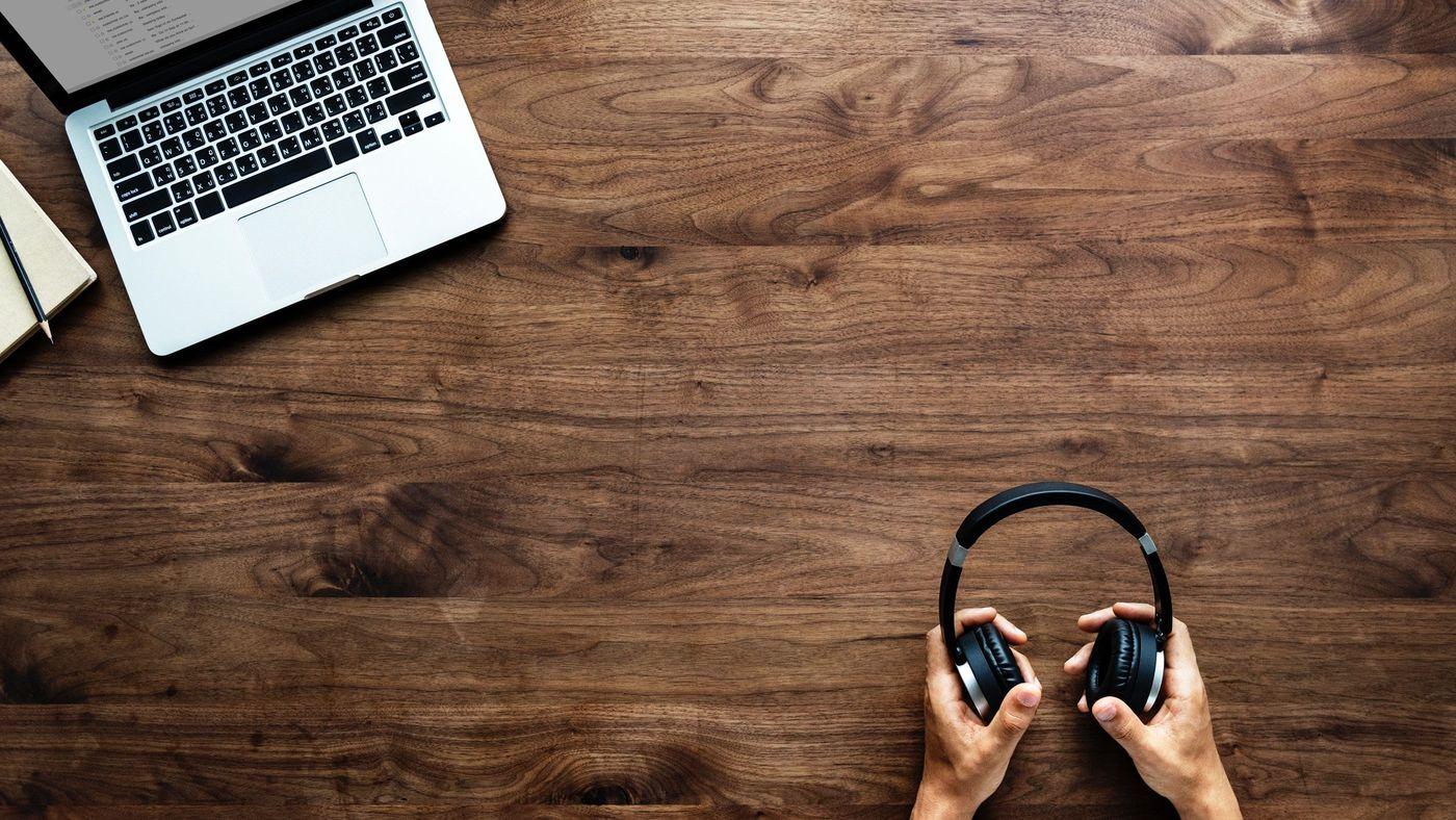 Computer und Headset